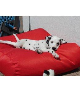 Dog's Companion® Hondenbed medium rood vuilafstotende coating