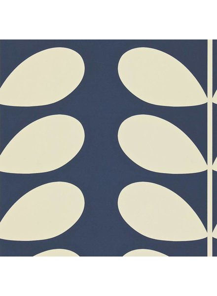 Orla Kiely behang Giant Stem - midnight blue