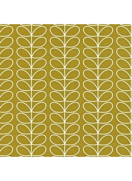Orla Kiely behang Linear Stem - Olive green