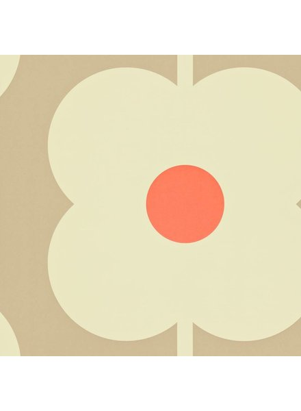 Orla Kiely behang Giant Abacus Flower - Mink