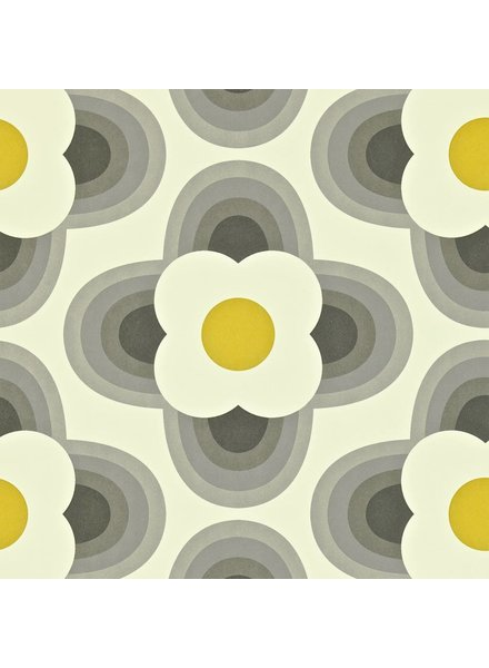 Orla Kiely behang Striped Petal - Graphite