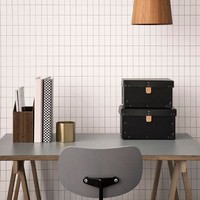 Ferm Living behang Grid - zwart/wit