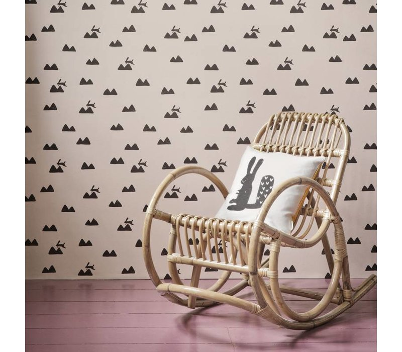 Ferm Living behang Rabbit