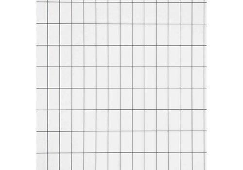 Ferm Living behang Grid - zwart/wit