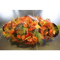 bloemstuk Oranje groot