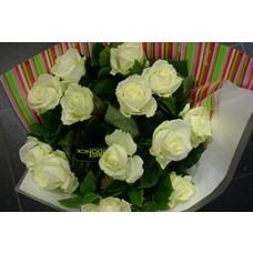 Boeket Avelanche witte rozen