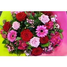 Boeket roze super
