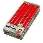 Bolsius kaarsen Dinerkaarsen rood 10 stuks 230/20 mm