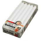 Bolsius kaarsen Dinerkaarsen wit 10 stuks 230/20 mm