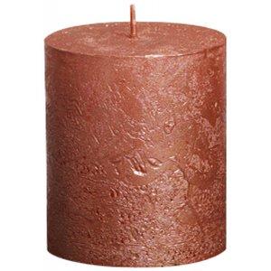 Bolsius kaarsen Kleine Stompkaars 80/68 metallic koper