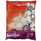 Bolsius kaarsen Waxinelichtjes 70 stuks in een zak 6 branduren