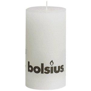 Bolsius kaarsen Kleine Rustieke Stompkaarsen 130/68 mm wit