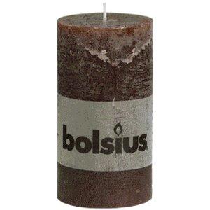 Bolsius Rustiek stompkaarsen 130/68 mm Chcolade bruin