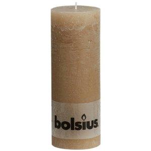Bolsius Leuke kaars. Rustieke stompkaars 190/68 mm pastelbeige