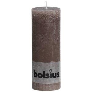 Bolsius kaarsen leuke kaars. Rustieke stompkaars 190/68 mm taupe