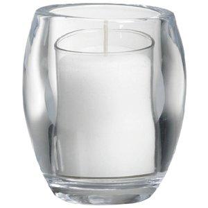 Bolsius kaarsen Grote glazen theelichthouder transparant