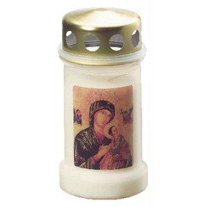Bolsius Herdenkingslichten nummer 3 met met deksel met Maria