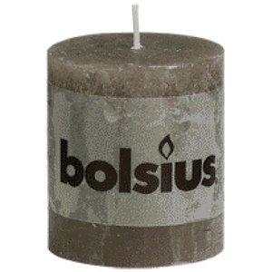 Bolsius Bolsius rustieke stompkaarsen 80/68 mm taupe