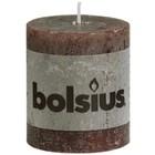 Bolsius Stompkaarsen 80/68 mm Chocolade bruin