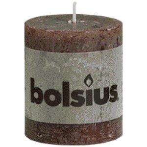 Bolsius Bolsius rustieke stompkaarsen 80/68 mm Chocolade bruin