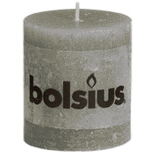 Bolsius kaarsen Bolsius rustieke stompkaarsen 80/68 mm lichtgrijs