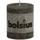 Bolsius kaarsen stompkaarsen 80/68 mm antraciet