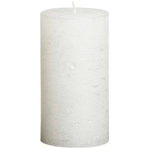 Bolsius kaarsen Stompkaars 130/68 metallic wit