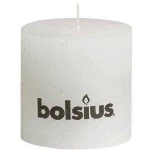 Bolsius Rustieke stompkaarsen 100/100 mm wit