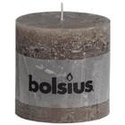 Bolsius kaarsen Stompkaarsen 100/100 mm taupe