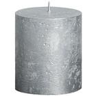 Bolsius Stompkaars 80/68 metallic zilver