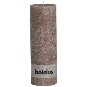 Bolsius Rustieke stompkaarsen 300/100 mm taupe