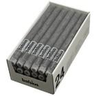 Bolsius Rustieke tafelkaarsen lichtgrijs 270/23 mm 24 stuks in een doos voor de Horeca