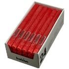 Bolsius Rustieke tafelkaarsen rood 270/23 mm 24 stuks in een doos voor de Horeca