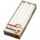 Bolsius kaarsen Gotische kaarsen wit 10 stuks 245/24 mm