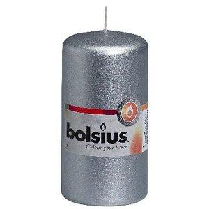 Bolsius Stompkaars 120/60 mm in de kleur zilver