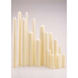 Mooie kerkkaarsen ivoor 500/50 mm