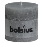 Bolsius Stompkaarsen 100/100 mm lichtgrijs