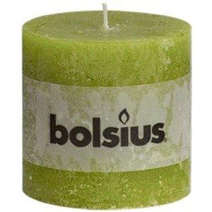 Bolsius Bolsius rustieke stompkaarsen groen online in de kaarsenwinkel