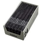 Bolsius Rustieke tafelkaarsen antraciet 270/23 mm 24 stuks in een doos voor de Horeca