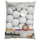 Bolsius Drijfkaarsen kleur wit 30/45 mm 20 stuks in een zak