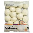 Bolsius kaarsen Drijfkaarsen kleur ivoor 30/45 mm 20 stuks in een zak