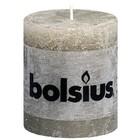 Bolsius Stompkaarsen 80/68 mm kiezelgrijs