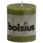 Bolsius Stompkaarsen 80/68 mm olijfgroen