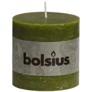 Bolsius Bolsius rustieke stompkaarsen olijfgroen online in de kaarsenwinkel
