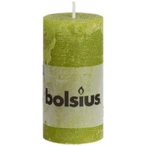 Bolsius kaarsen Bolsius rustieke stompkaarsen groen 100/50 mm