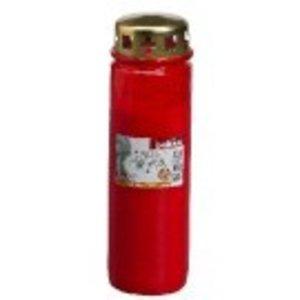 Bolsius kaarsen Herdenkingslicht nr. 9 met deksel Rood
