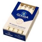 Gouda Gouda kroonkaarsen ivoor 10 in een doos 200/24 mm