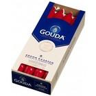 Gouda Kroonkaarsen Robijnrood 8 in een doos 240/24 mm