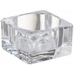 Bolsius Glas vierkant maxitheelichthouder 42/75 Transparant