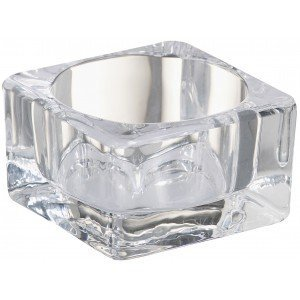 Bolsius kaarsen Glas vierkant maxitheelichthouder 42/75 Transparant